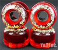 SECTOR9 NINEBALLS 65mm 78a CLEAR RED