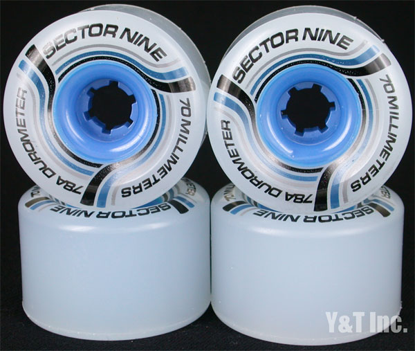 SECTOR9 NINEBALL 70mm 78a WHITE BLUE CORE 1