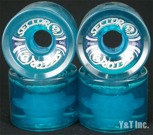 SECTOR9 SLALOM 69mm 80a CLEAR BLUE 1