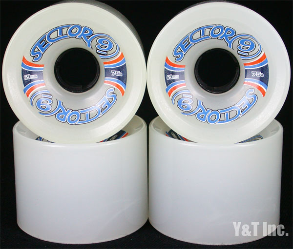 SECTOR9 SLALOM 69mm 75a WHITE 1