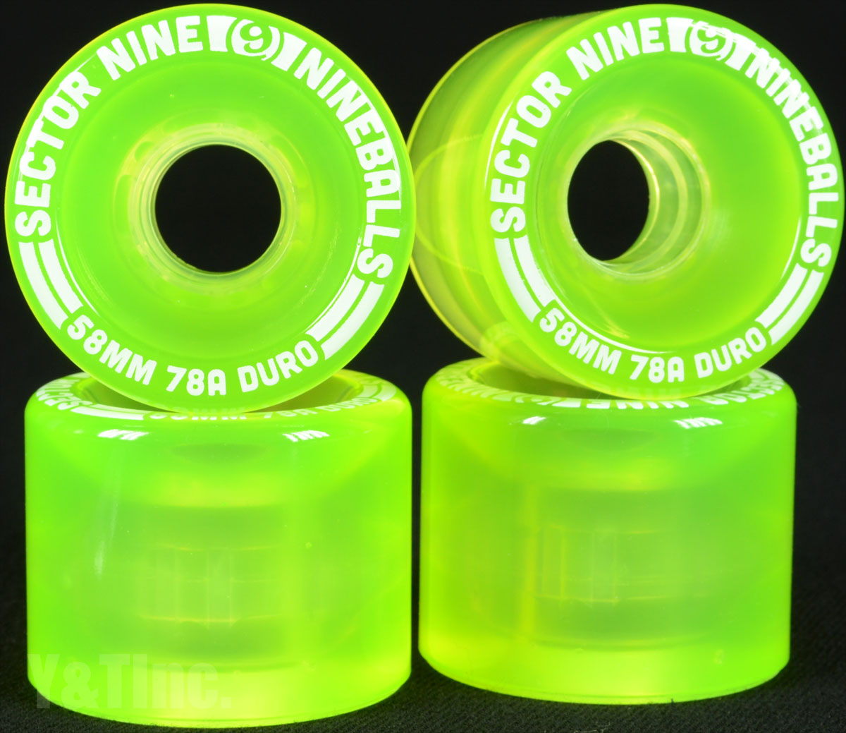SECTOR9 NINE BALL 58mm 78a Clear Green 1