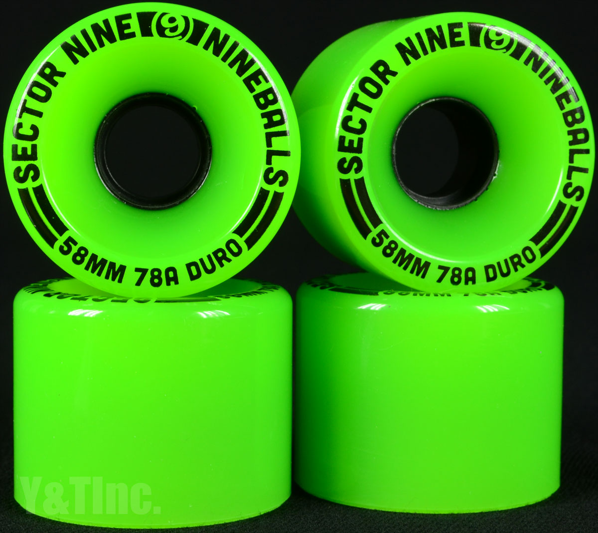 SECTOR9 NINE BALL 58mm 78a Green 1