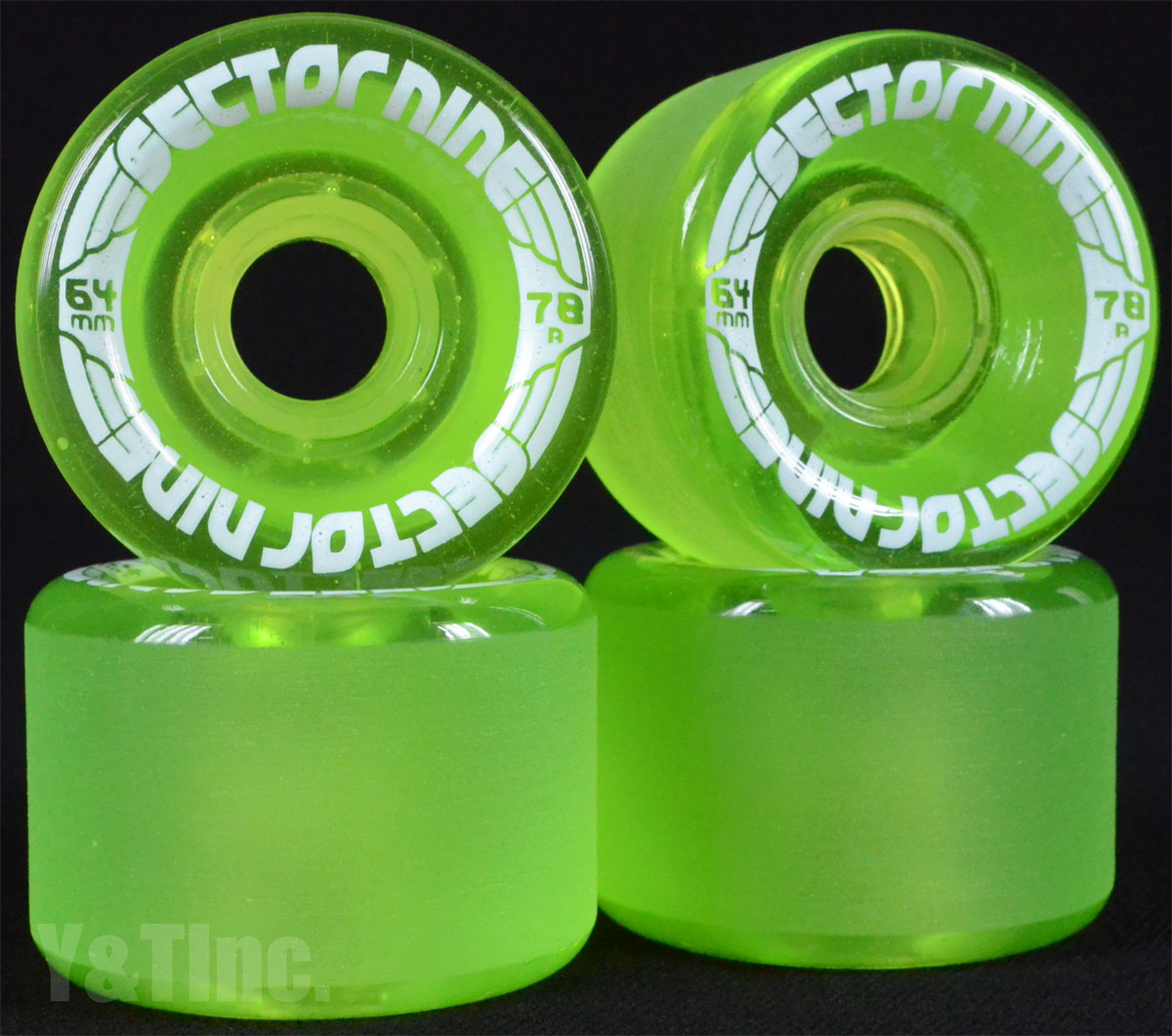 SECTOR9 NINE BALL 64mm 78a Clear Green 1