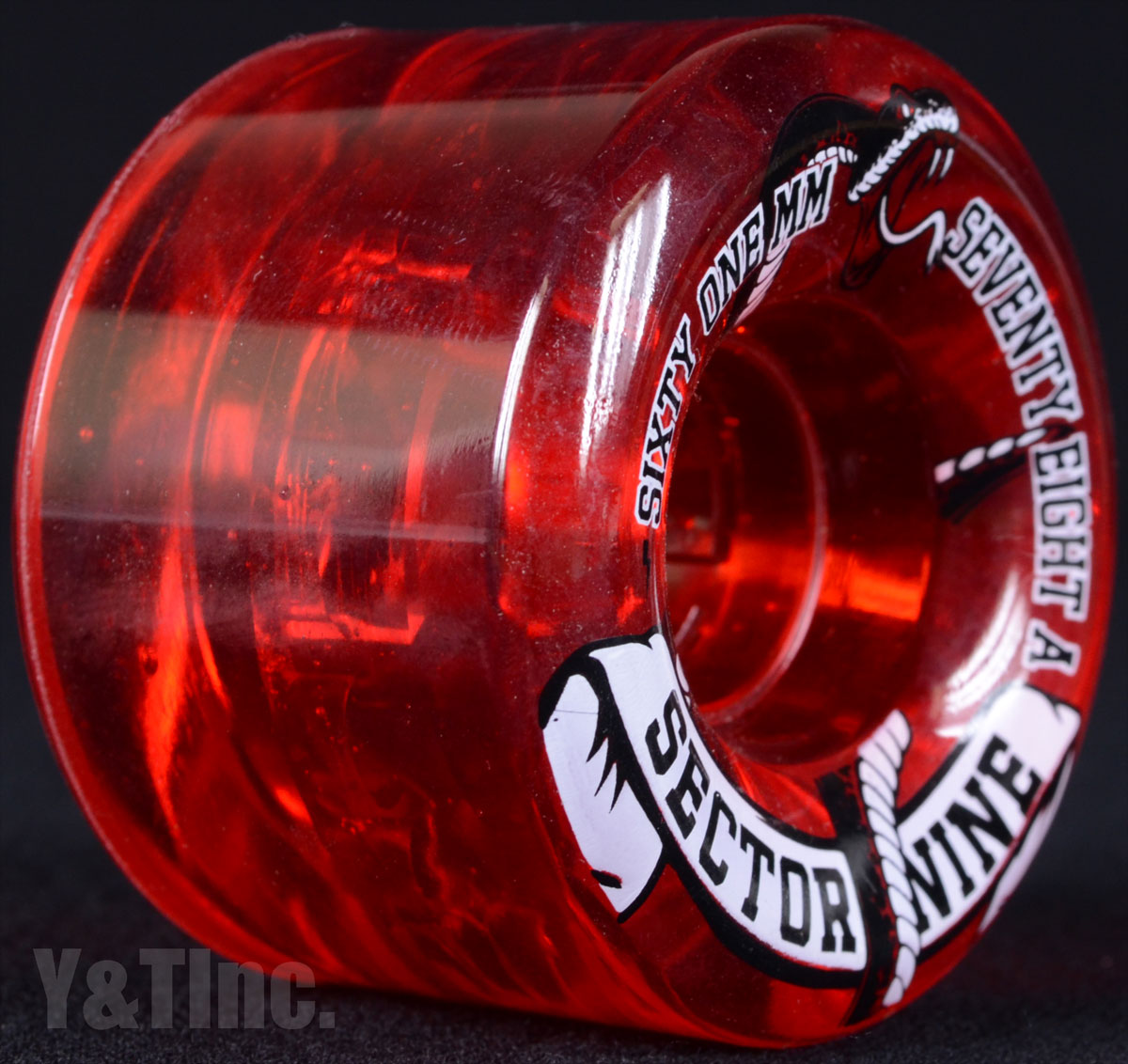 SECTOR9 NINE BALL 61mm 78a Clear Red 1
