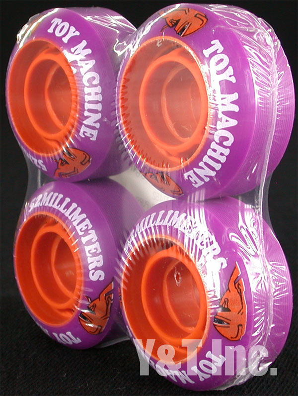 TOY MACHINE 52mm PURPLE ORANGE CORE 1